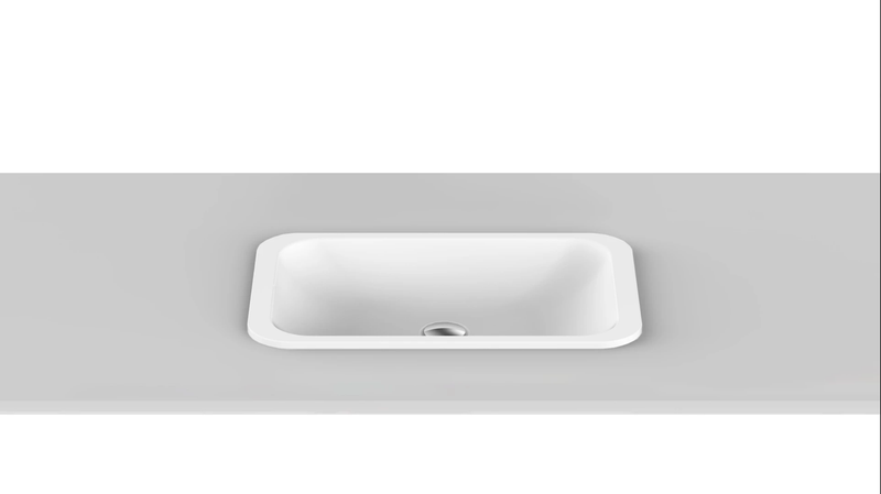 ADP Hope Inset Basin Matte White TOPTHOP5026-TS