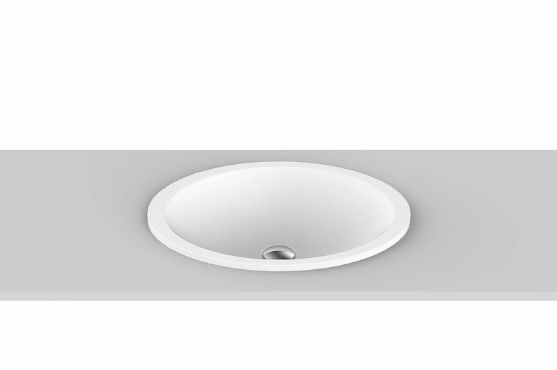 ADP Sincerity Inset Basin Matte White TOPTSIN5037-TS