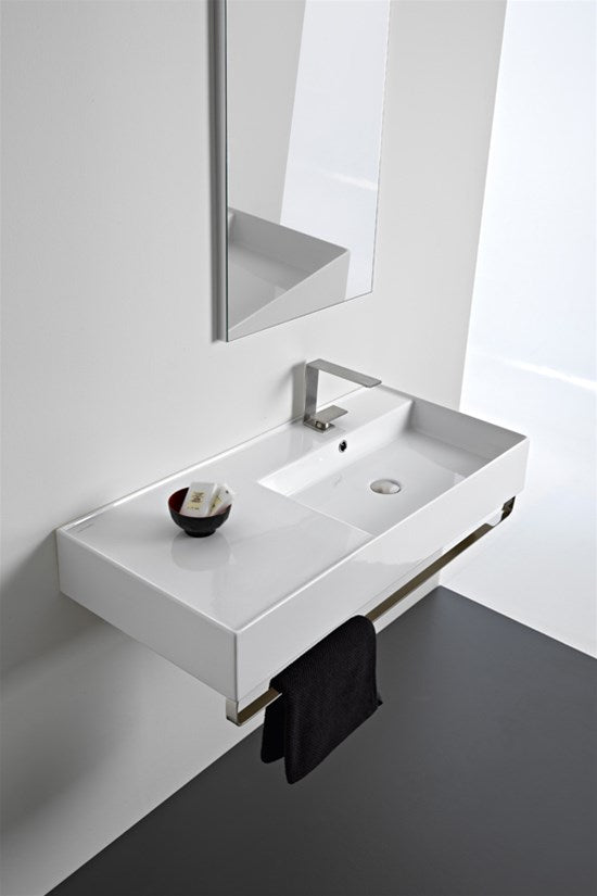 ADP Scarabeo Teoroma 2.0 1000mm Right Hand Offset Wall Basin TOPCTEO100GWR