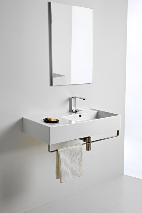 ADP Scarabeo Teoroma 2.0 800mm Right Hand Offset Wall Basin TOPCTEO80GWR