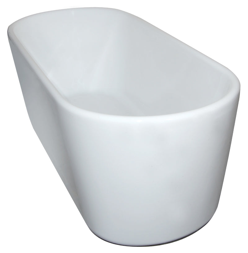 Broadway Ovalo 1350 Freestanding Bath Gloss White OVALO1350