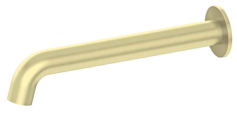 Nero Mecca Wall Basin/Bath Outlet Brushed Gold, 215mm NR22190321BG