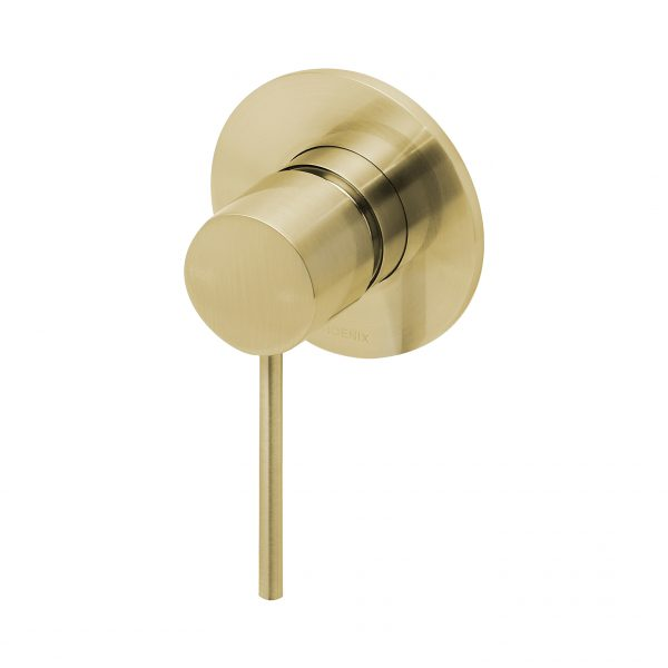 Phoenix Vivid Slimline Shower/Bath Mixer Brushed Gold VS780-12