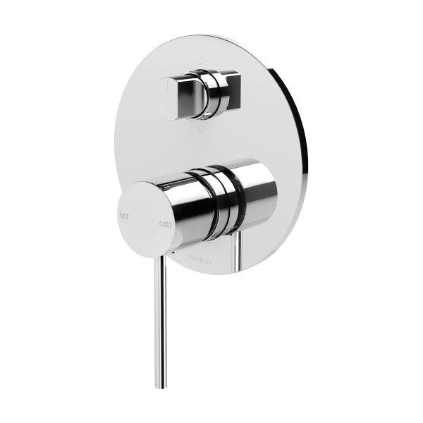 Phoenix Vivid Slimline Shower/Bath Diverter Mixer Chrome VS791 CHR