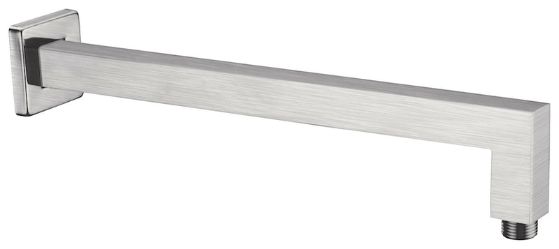 Nero 350mm Square Wall Arm Brushed Nickel NR501BN