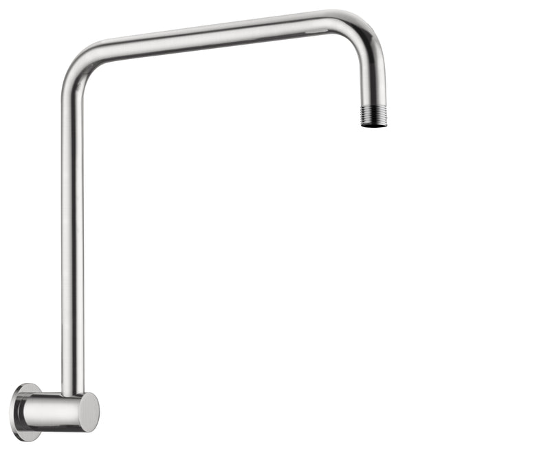 Nero 350mm Round Swivel High Rise Arm Brushed Nickel NR506BN