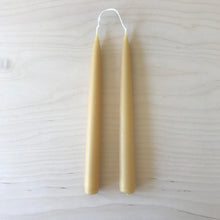 Load image into Gallery viewer, Pair of beeswax dinner candles