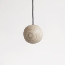 Load image into Gallery viewer, Ash wood light pull with waxed black cord