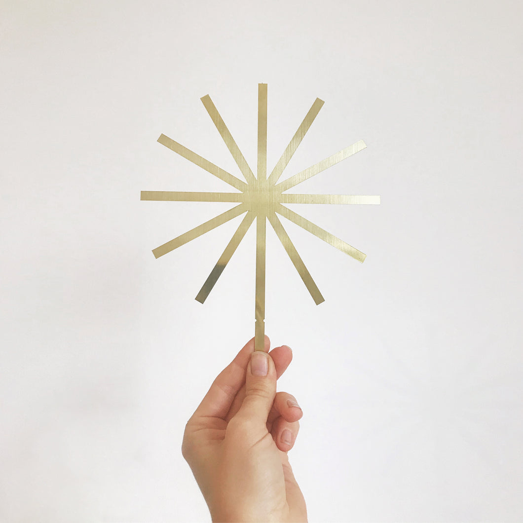 Brass modern star topper