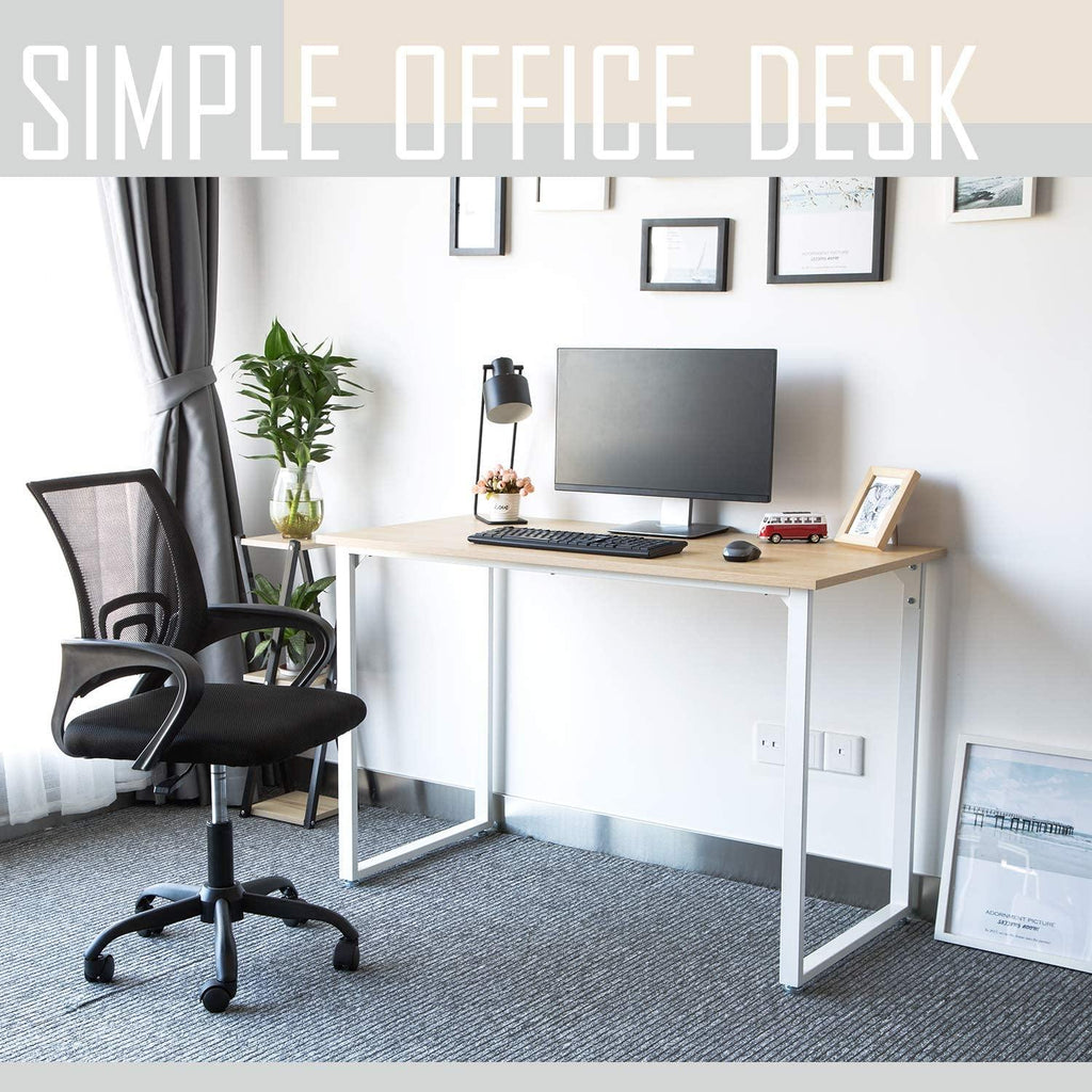 "TOPSKY Simple Office Desk 47'/59"" Heavy Duty 550lbs Study Writing Desk for Home and Office"