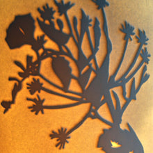 Load image into Gallery viewer, Detail, orange glowing tangle of bindweed hedgerow in silhouette.