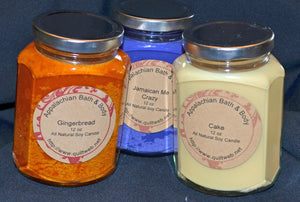 Candle 12 oz Hex Baby Powder