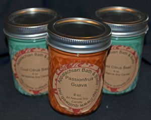 Candle 8 oz Jelly Jar Orange Chile Pepper