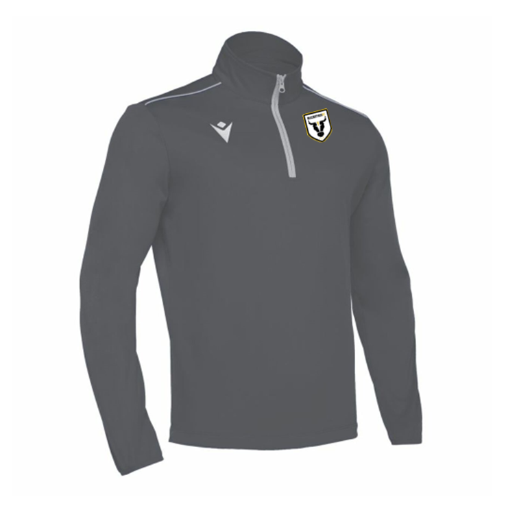 Macarthur FC Macron Long Sleeve Training Top - Grey