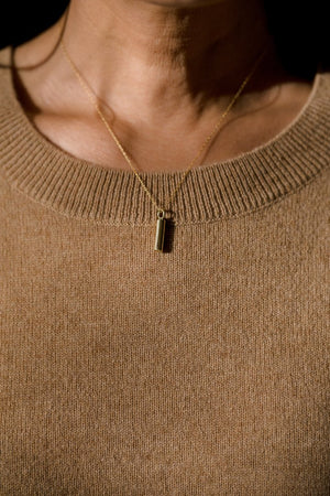 Cylinder Pendant Necklace