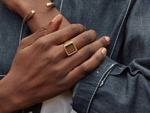 Open Square Statement Ring