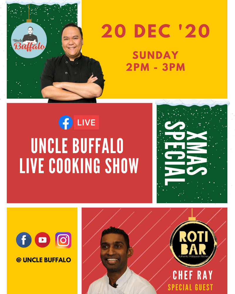 Uncle Buffalo Cooking Show - Christmas Edition with Chef Ray