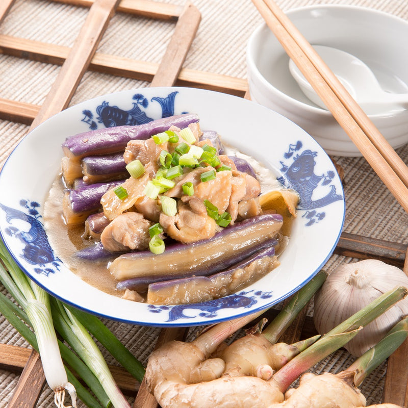 Diced Chicken with Salted Fish and Eggplant