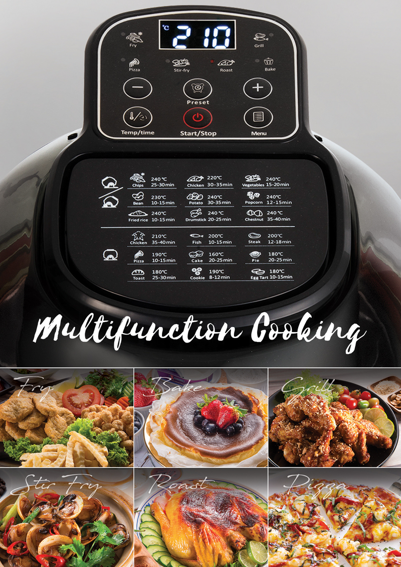 Buffalo Stainless Steel Smart Air Fryer 2.0 - Pro Chef Plus (Pre-Order)