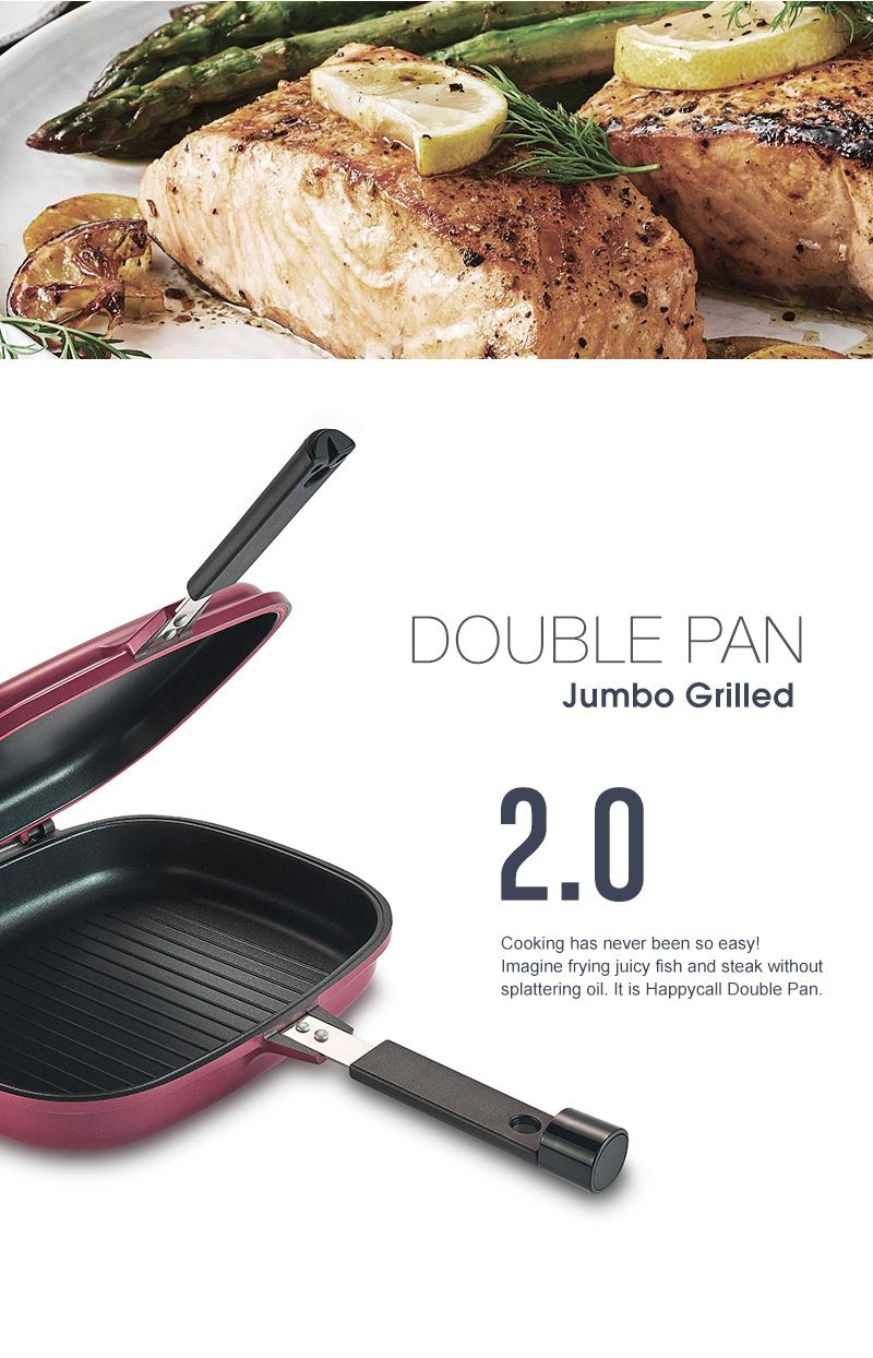 Happycall Compact Double Pan (Detachable) - Standard Pink