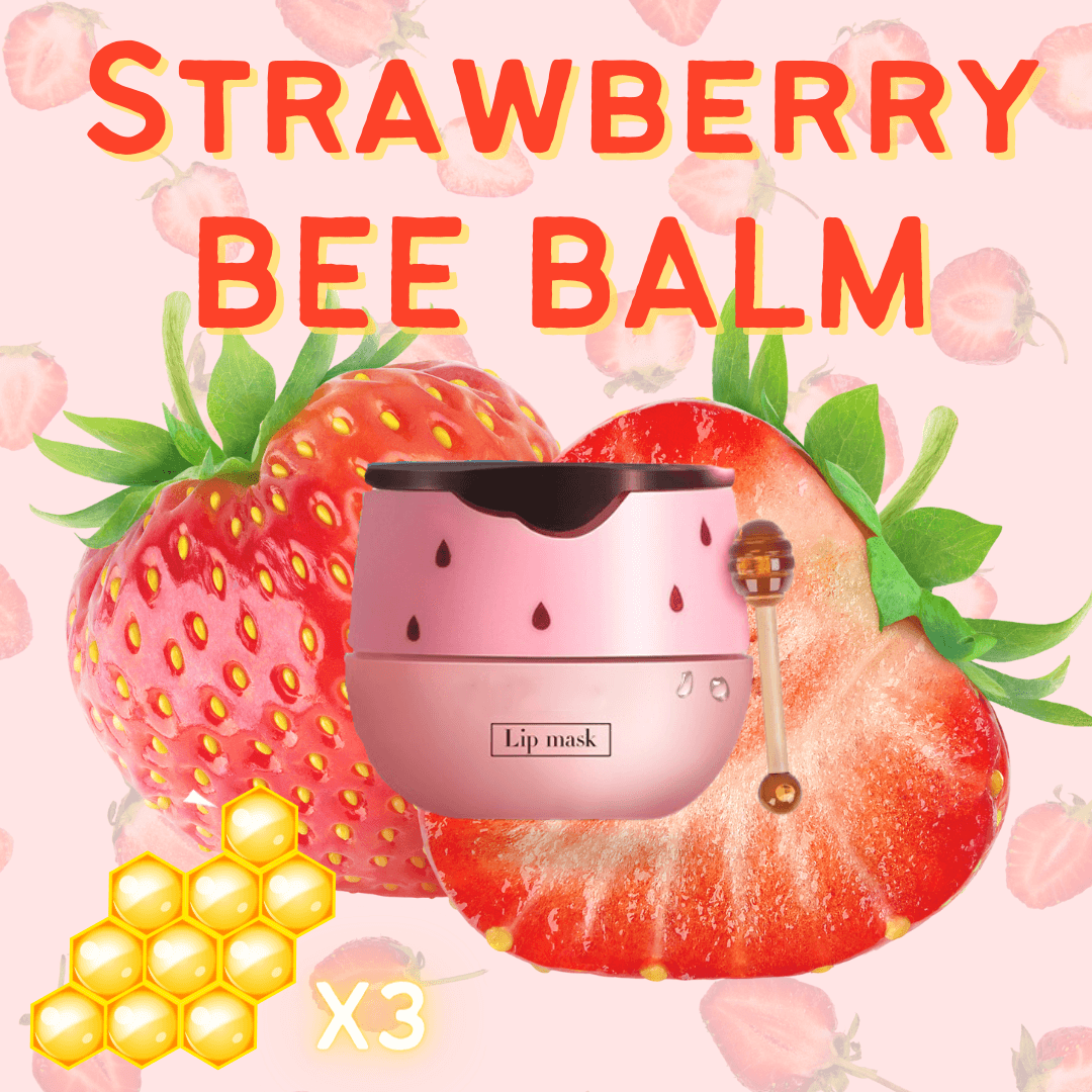 Bee Balm - Strawberry Intense Hydrating Beauty Lip Mask Alysrom Official 2