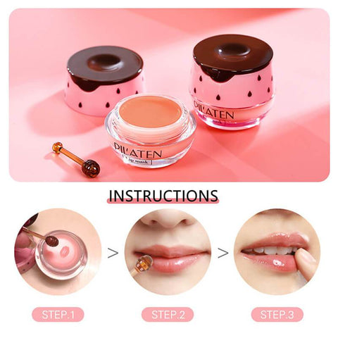 Bee Balm - Strawberry Intense Hydrating Beauty Lip Mask Alysrom Official 25
