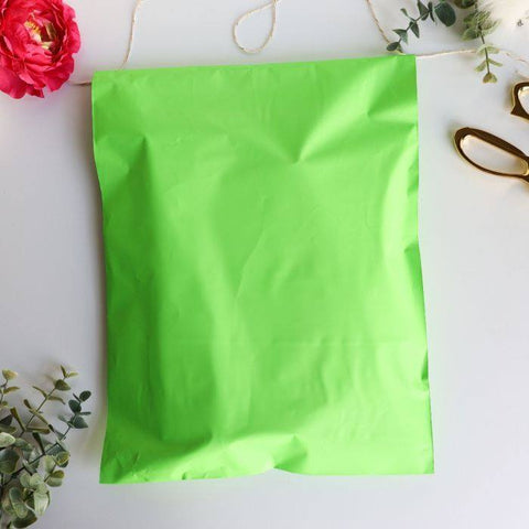 Lime Green 10x13 Poly Mailer - set of 20