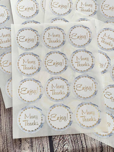Marble Stickers - 12 stickers per sheet