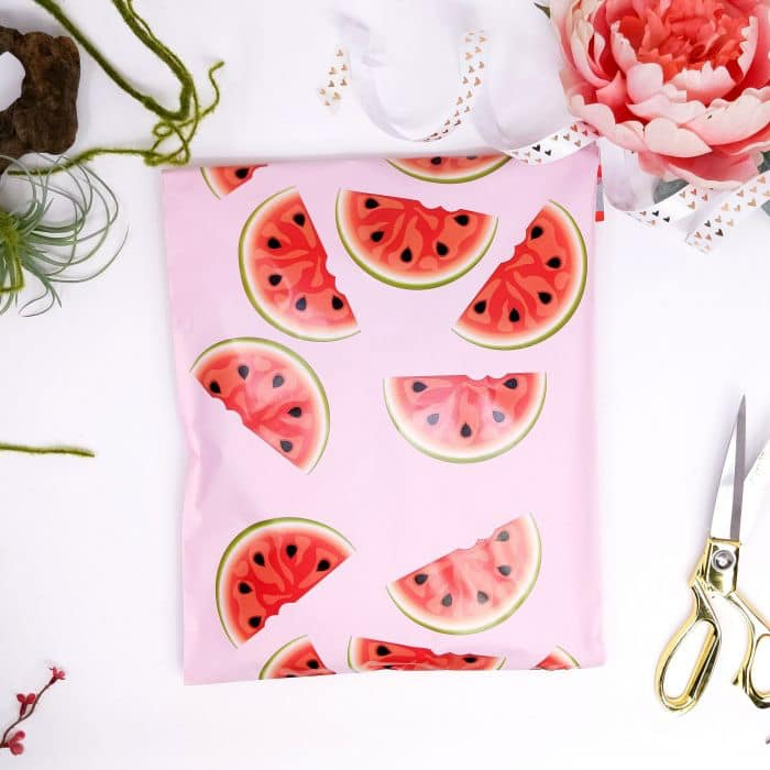 10x13 Watermelon poly mailer - set of 20