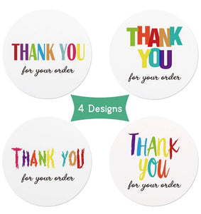 "2"" Assorted Thank You Stickers - set of 50"