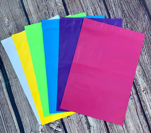 10x13 Assorted colorful poly mailer set - set of 20