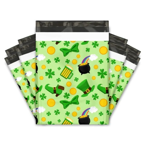St Patricks Day 10x13 Premium Poly Mailer - set of 10