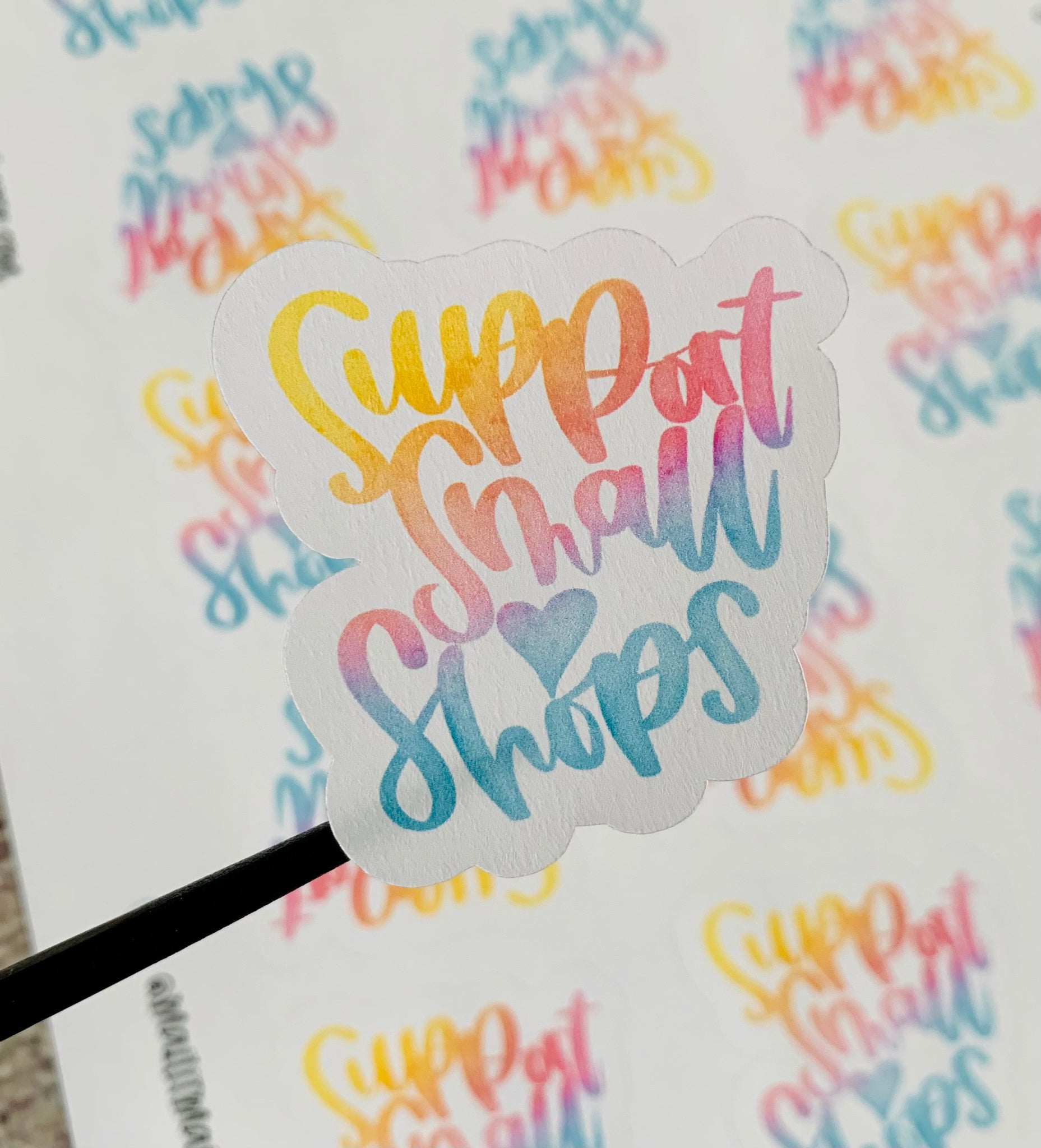 "2"" support small shops stickers - 15 stickers per sheet"