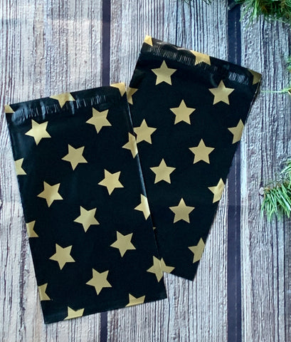 Gold Stars 6x9 poly mailer - set of 20