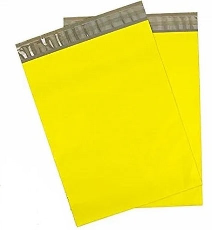 Sunshine yellow 10x13 poly mailer - set of 20