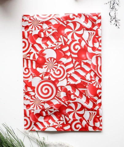 Candy Cane 6x9 poly mailer - set of 20