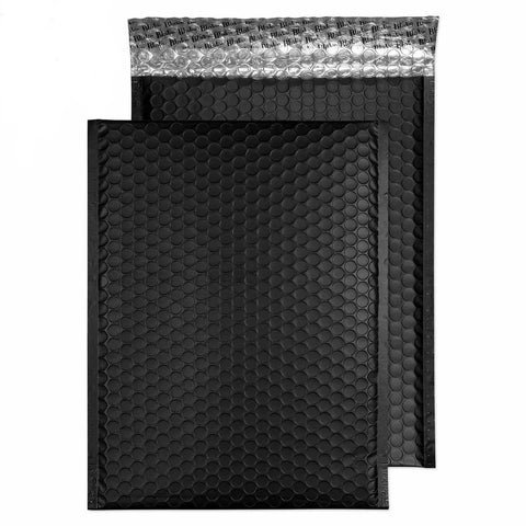 Matte black 8.5x12 bubble mailer