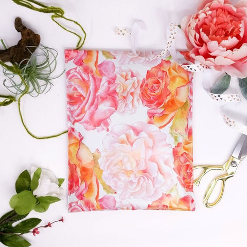 Watercolor blossoms 10x13 Poly Mailer - set of 20