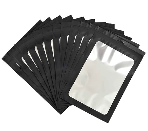 Black 4x6 ziplock bags - set of 20