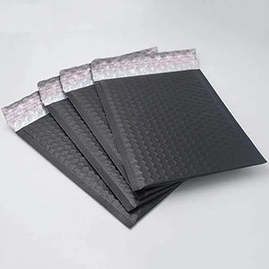 "Matte black 4x8"" bubble mailer"