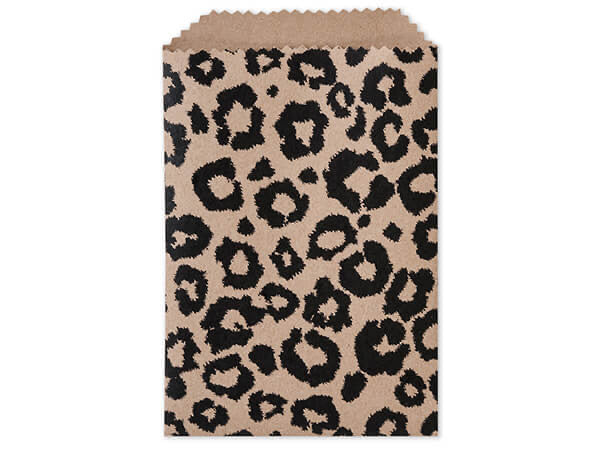 Leopard Paper Bags 4.75x6.75 - set of 10