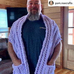 Celtic Scarf with pockets.