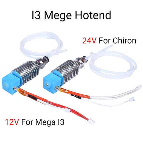 I3 Mega Hotend 12V 24V Bowden Extruder V5 J-head Hotend 3D Printer Parts For Anycubic I3 Mega Mega-S Upgrade Parts vs V6 Hotend - aster3dprinter