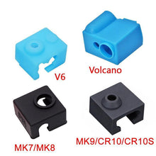 Load image into Gallery viewer, 3D Printer Parts Silicone Sock for V6 Volcano MK8/MK9/CR10/CR10S Heated Block Warm Keeping Cover - aster3dprinter