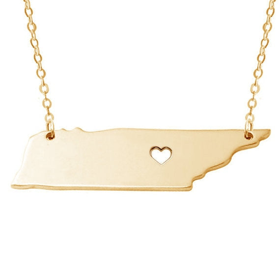 Tennessee State Necklaces - Chattanooga