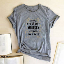Load image into Gallery viewer, Tennessee Whiskey Wine Letter Print T-shirts Women - Chattanooga