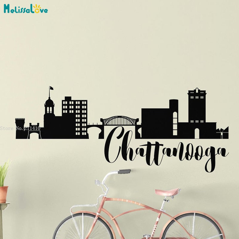 Skyline Vinyl Wall Sticker - Chattanooga TN