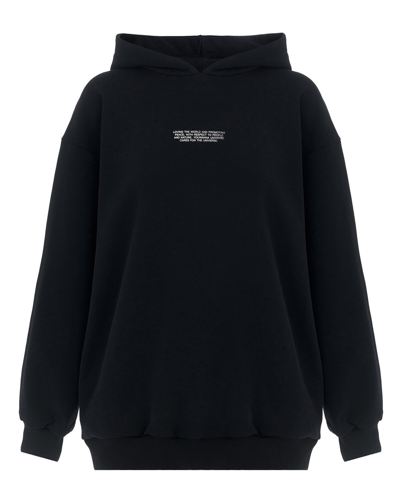 Black tracksuit with lettering