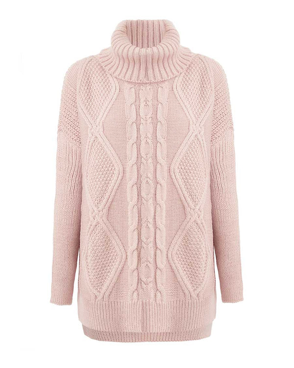 Powdery Chunky Knit Sweater