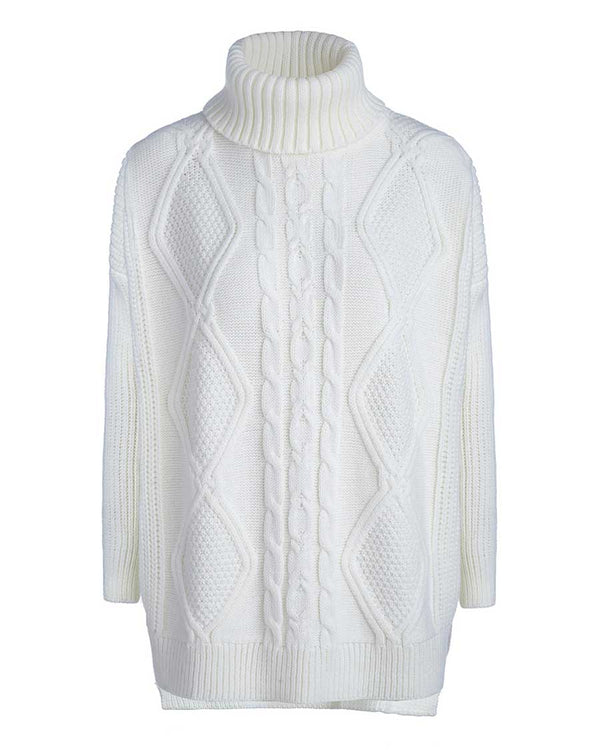 White Chunky Knit Sweater